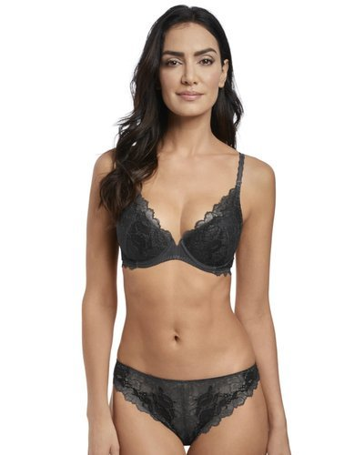 Lace Perfection biustonosz push up czarny